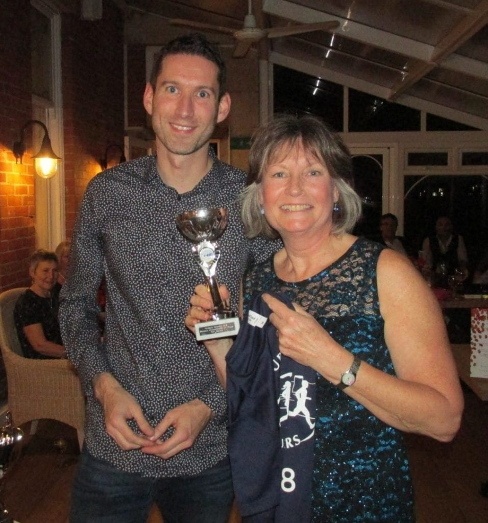 Matt Coggins, Purbeck Runner of the Year with Tish Alberry