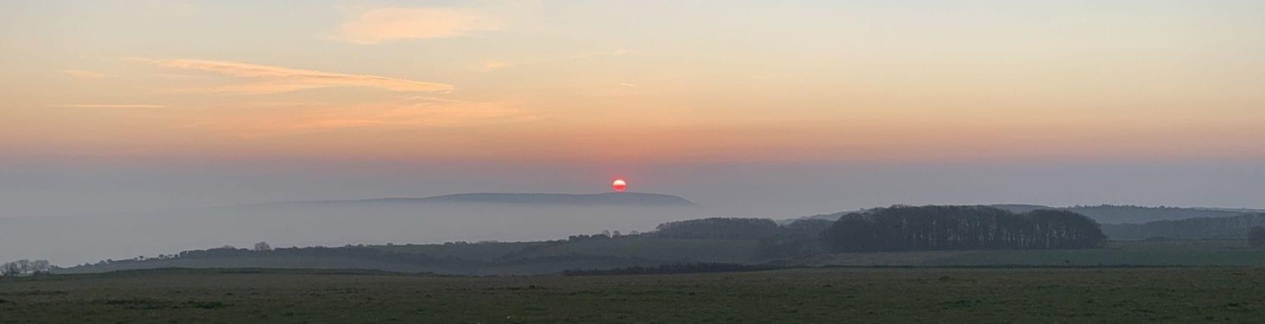 Rose Clarke's Sunrise from Swyre Head