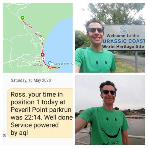 Ross Wayne and his very own Peveril Point 'parkrun'