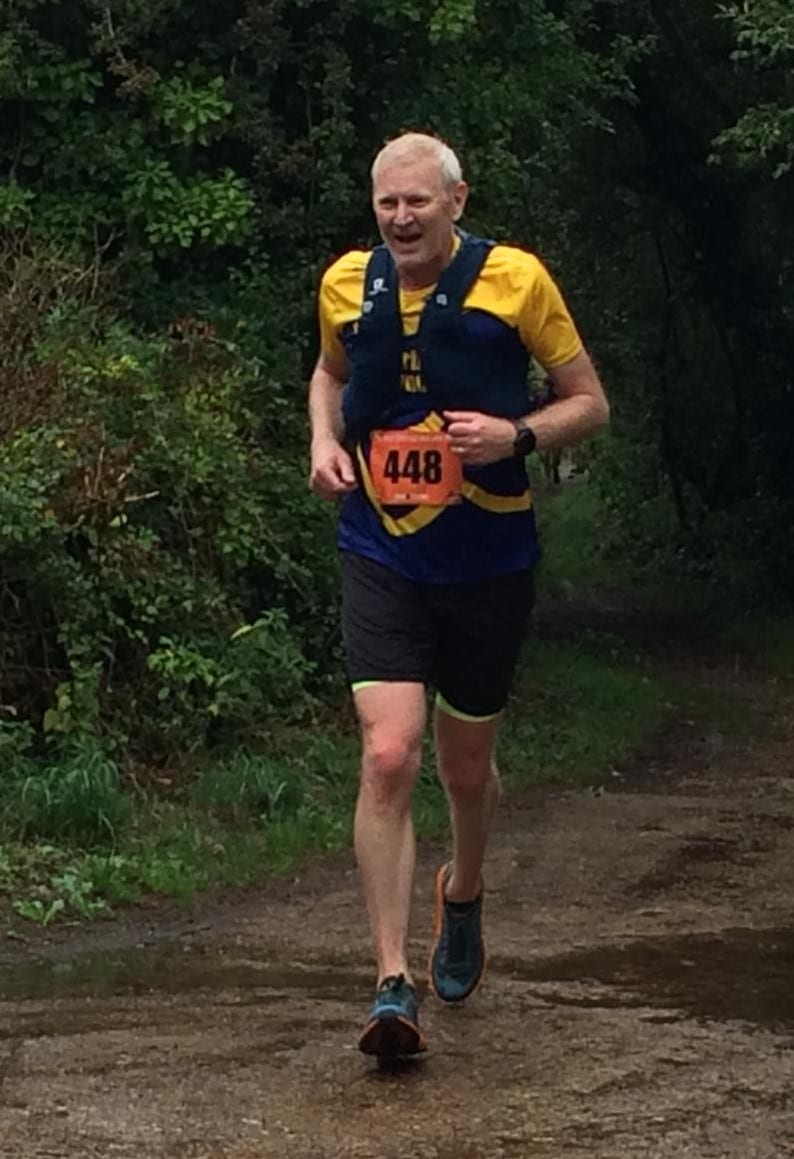 David Hodson, first man to finish for the Purbeck Runners