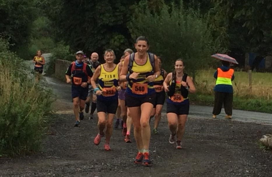 Beccy Spicer leads a group of Purbeck Runners