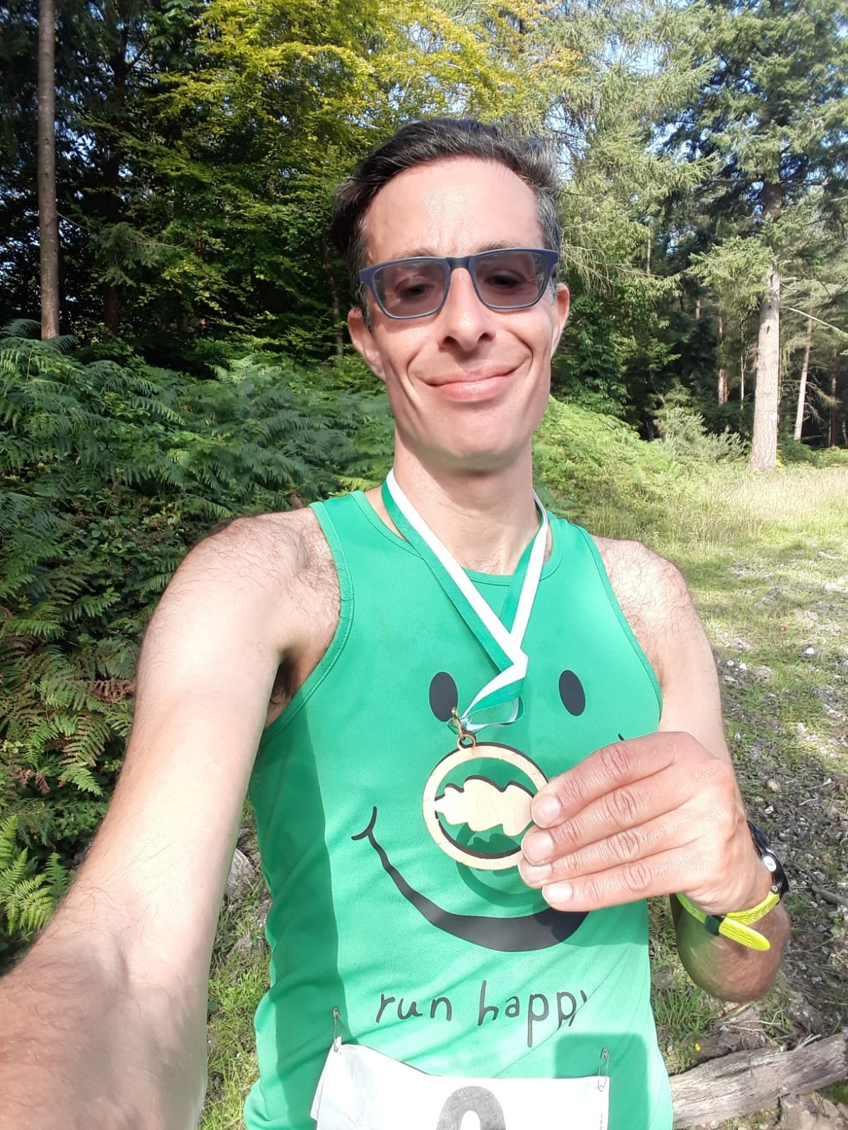 Ross Wayne with his 3rd Place at the Ashcombe Summer Trails 5k
