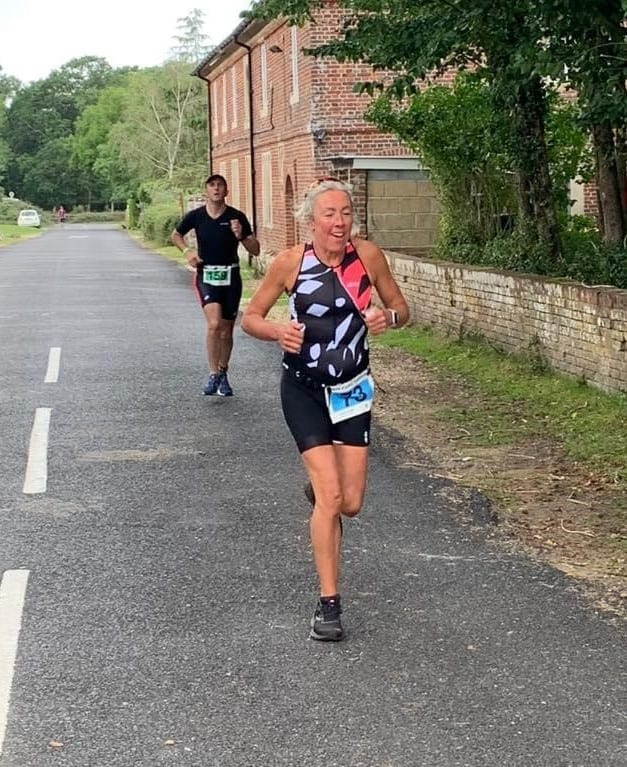 Clare McDermott at the New Forest Triathlon