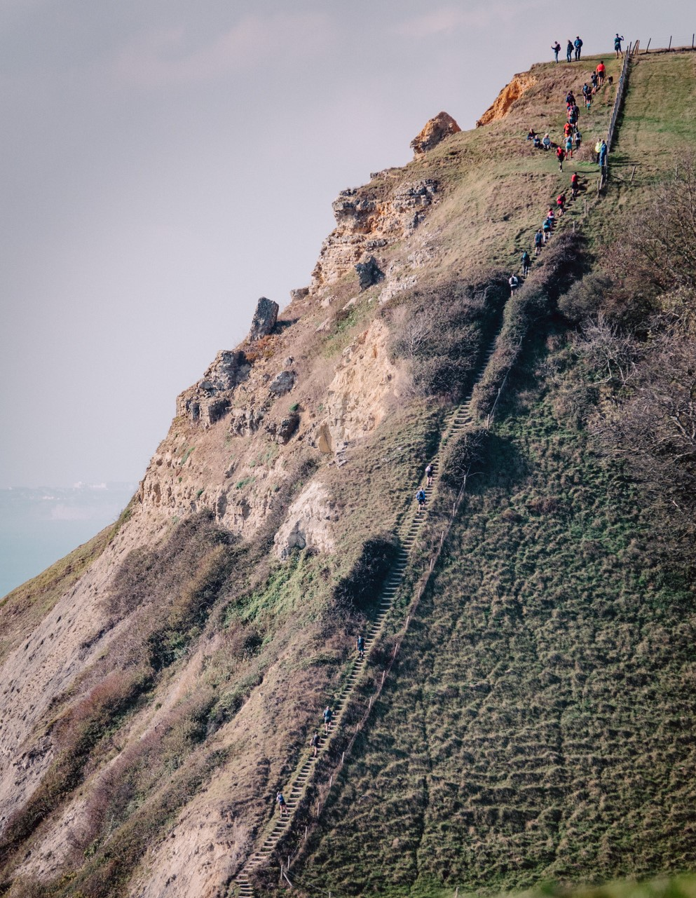 The steep climb to Houns Tout