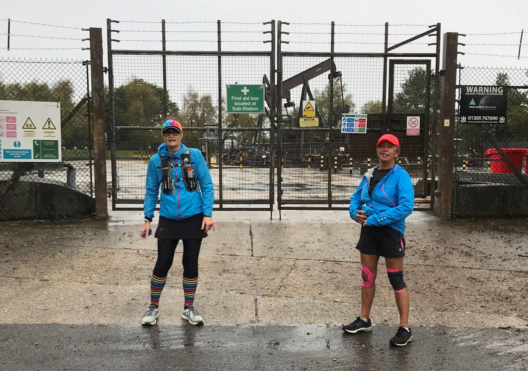 You don't normally see oil wells at a London Marathon